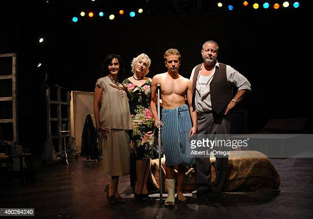 Actors Gaby Eubank Emily Low Anton Troy and John Lacy at Tennessee William's Cat On A Hot Tin Roof Special Performance To Benefit NOH8 on Gay Pride...