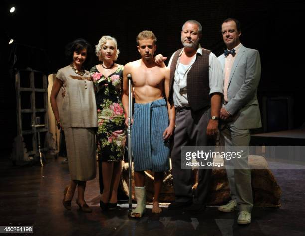 Actors Gaby Eubank Emily Low Anton Troy John Lacy and Brian Finney of The Actor's Gang at Tennessee William's Cat On A Hot Tin Roof Special...