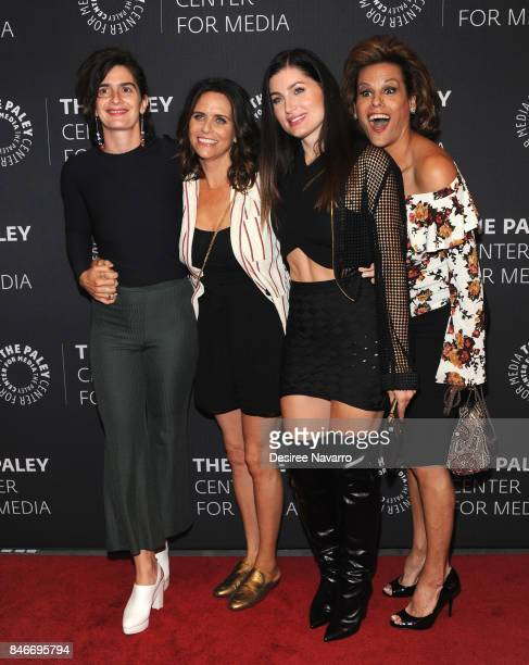 Actors Gaby Hoffman Amy Landecker Trace Lysette and Alexandra Billings attend The Paley Center For Media Presents Transparent An Evening With The...