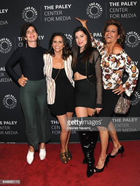 Actors Gaby Hoffmann Amy Landecker Trace Lysette and Alexandra Billings attend The Paley Center For Media Presents Transparent An Evening With The...