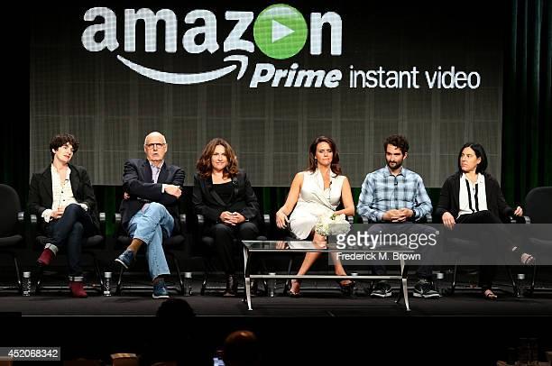 Actors Gaby Hoffmann Jeffrey Tambor executive producer/creator Jill Soloway actors Amy Landecker Jay Duplass and producer Andrea Sperling speak...