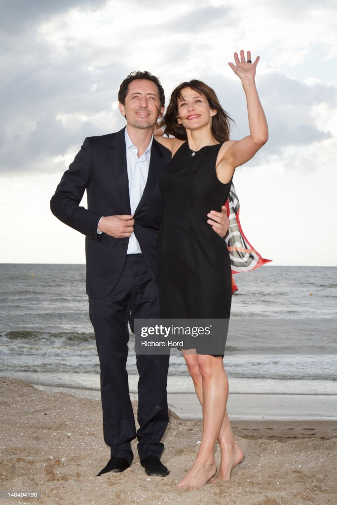 Actors Gad Elmaleh and Sophie Marceau pose as they attend the 26th Cabourg Romantic Film Festival on June 16, 2012 in Cabourg, France.