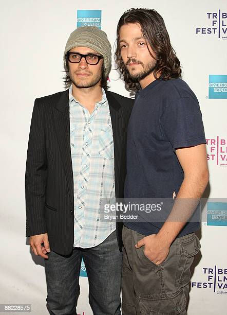 Actors Gael Garcia Bernal and Diego Luna attend the premiere of 'Rudo Y Cursi' during the 2009 Tribeca Film Festival at AMC Village VII on April 26...