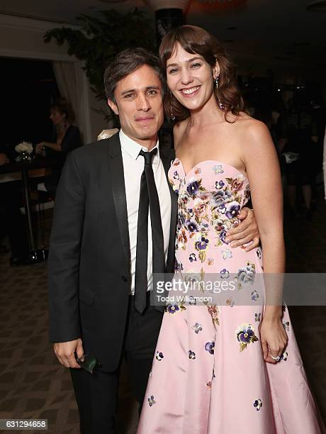 Actors Gael Garcia Bernal and Lola Kirke attend Amazon Studios Golden Globes Celebration at The Beverly Hilton Hotel on January 8 2017 in Beverly...