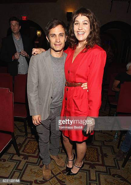 Actors Gael Garcia Bernal and Lola Kirke attend the 'Mozart In The Jungle' Emmy FYC screening event at Hollywood Roosevelt Hotel on April 21 2016 in...