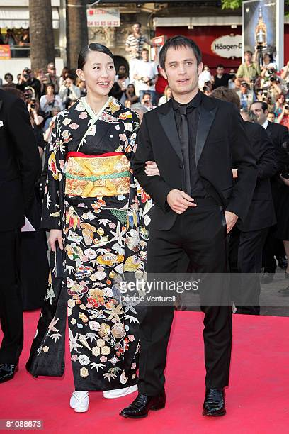 "Actors Gael Garcia Bernal and Yoshino Kimura arrive at the ""Blindness"" premiere during the 61st Cannes International Film Festival on May 14, 2008 in..."
