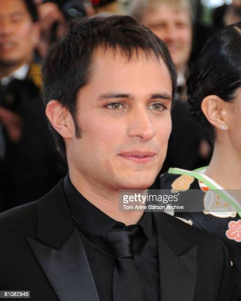 """Actors Gael Garcia Bernal arrives at the """"Blindness"""" premiere during the 61st Cannes International Film Festival on May 14, 2008 in Cannes, France."""
