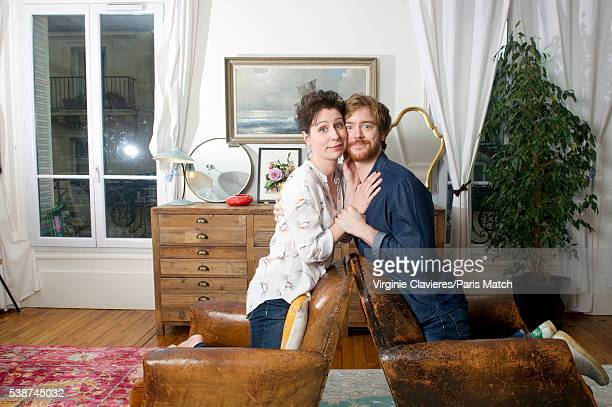 Actors Gael Giraudeau and Anne Auffret are photographed for Paris Match on May 23 2016 in Paris France