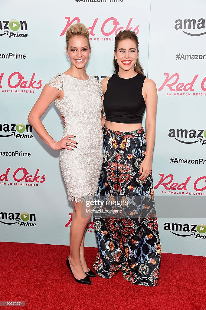 Actors Gage Golightly and Alexandra Turshen attend the Amazon red carpet premiere for the brand new original comedy series 'Red Oaks' on September 29, 2015 in New York City.