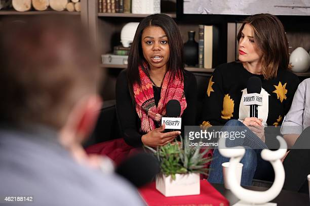Actors Gail Bean and Cobie Smulders speak at The Variety Studio At Sundance Presented By Dockers on January 25 2015 in Park City Utah