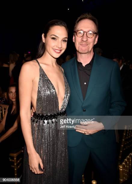 Actors Gal Gadot and David Thewlis attend The 23rd Annual Critics' Choice Awards at Barker Hangar on January 11 2018 in Santa Monica California