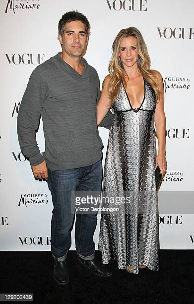 Actors Galen and Jenna Gering arrive at the GUESS By Marciano VOGUE 2011 Holiday Collection Debut at Mr C Beverly Hills on October 13 2011 in Beverly...