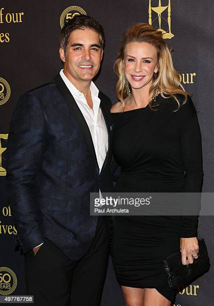 Actors Galen Gering and Jenna Gering attend the Days Of Our Lives 50th Anniversary at the Hollywood Palladium on November 7 2015 in Los Angeles...