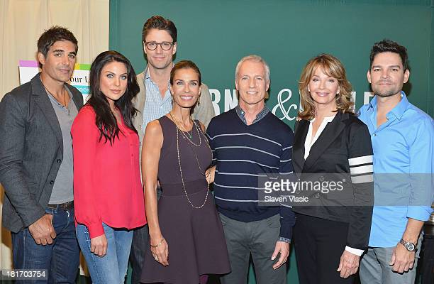 Actors Galen Gering Nadia Bjorlin James Scott Kristian Alfonso coexecutive producer/author Greg Meng actress Deidre Hall and author Eddie Campbell...
