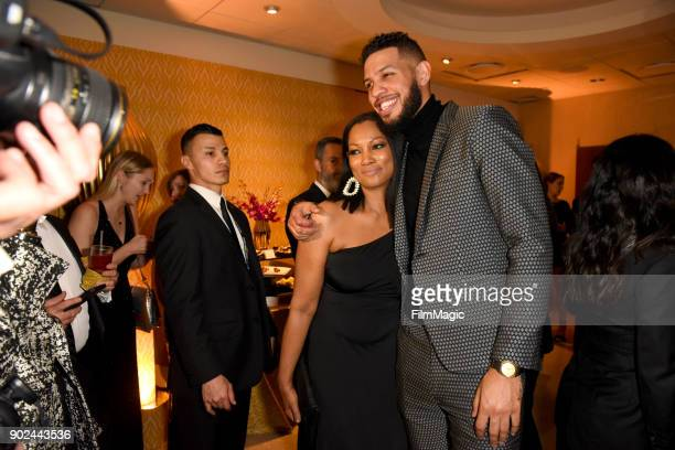 Actors Garcelle Beauvais Sarunas J Jackson attend HBO's Official 2018 Golden Globe Awards After Party on January 7 2018 in Los Angeles California