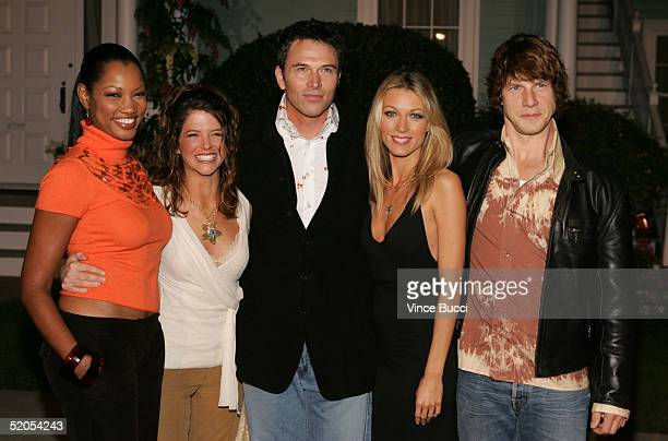 Actors Garcelle BeauvaisNilon AJ Langer Tim Daly Natalie Zea and Eric Mabius arrive at the ABC's Winter Press Tour Party on Wisteria Lane on January...
