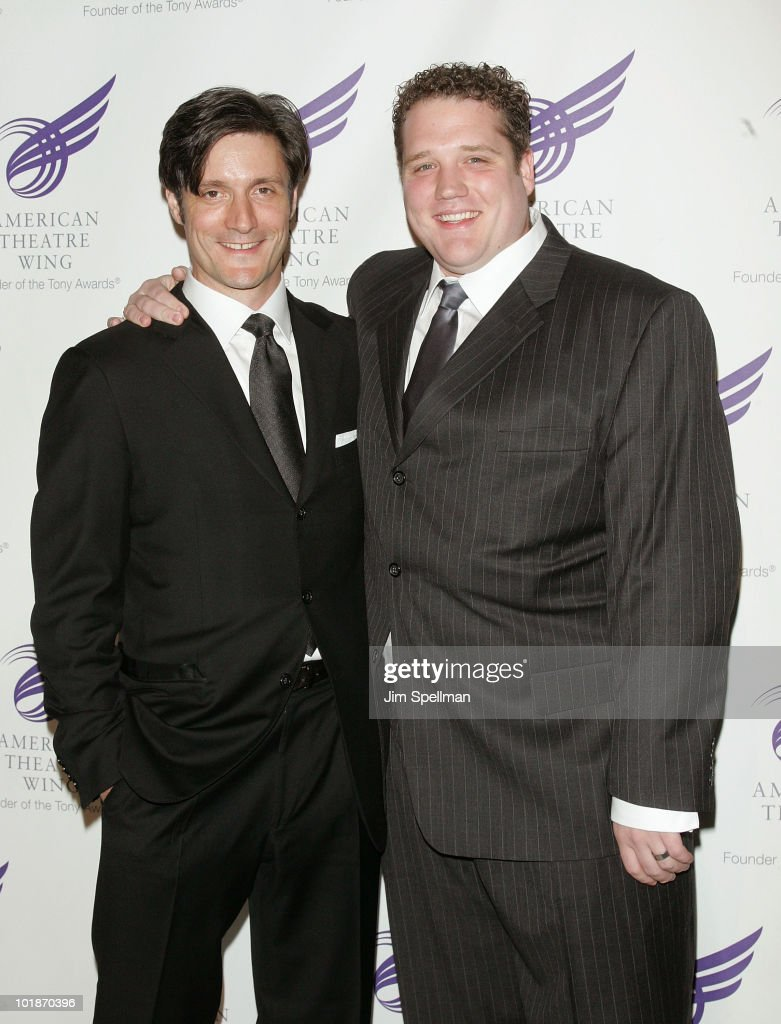 Actors Gareth Saxe and Ben Jeffrey attend the 2010 American Theatre Wing Spring Gala at Cipriani 42nd Street on June 7, 2010 in New York City.