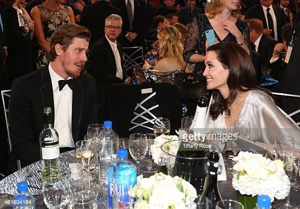 Actors Garrett Hedlund and Angelina Jolie attend the 20th annual Critics' Choice Movie Awards at the Hollywood Palladium on January 15 2015 in Los...