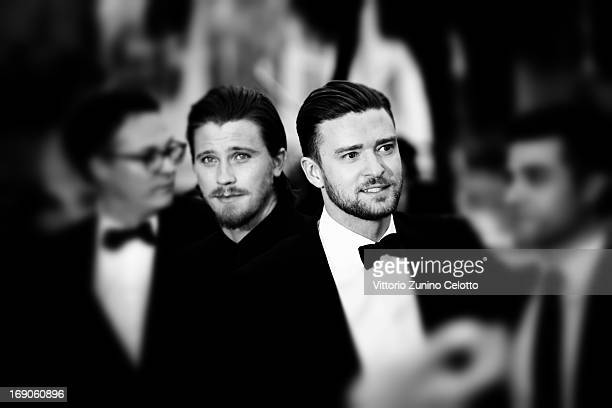 Actors Garrett Hedlund and Justin Timberlake attend 'Inside Llewyn Davis' Premiere during the 66th Annual Cannes Film Festival at Palais des...