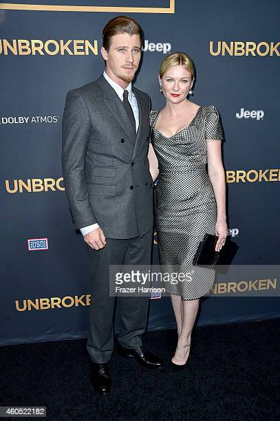 Actors Garrett Hedlund and Kirsten Dunst attend the premiere of Universal Studios' 'Unbroken' at TCL Chinese Theatre on December 15 2014 in Hollywood...