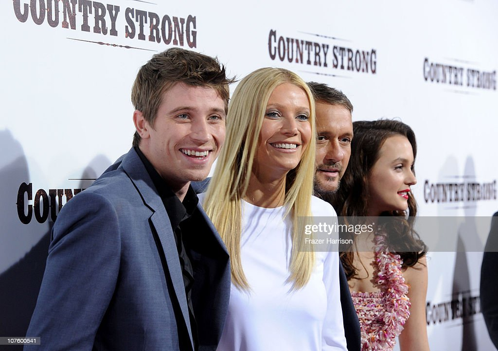 Actors Garrett Hedlund, Gwyneth Paltrow,Tim McGraw, Leighton Meester arrive at the screening of Screen Gems' 'Country Strong' at The Academy of Motion Picture Arts & Sciences onon December 14, 2010 in Beverly Hills, California.