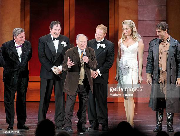 Actors Gary Beach Richard Kind producer Mel Brooks actor Jesse Tyler Ferguson actress Rebecca Romijn and actor Dane Cook attend the Hollywood Bowl...