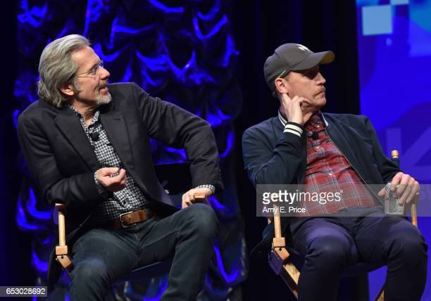 Actors Gary Cole and Matt Walsh speak onstage at 'Featured Session 'VEEP' Cast' during 2017 SXSW Conference and Festivals at Austin Convention Center...