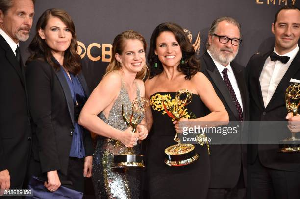 Actors Gary Cole Clea DuVall Anna Chlumsky Julia LouisDreyfus Kevin Dunn and Tony Hale cast members of the Outstanding Comedy Series awardwinning...