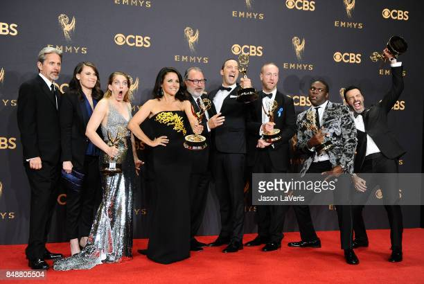 Actors Gary Cole, Clea DuVall, Anna Chlumsky, Julia Louis-Dreyfus, Kevin Dunn, Tony Hale, Matt Walsh, Sam Richardson, and Reid Scott, winners of the...