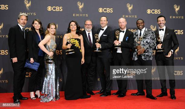 Actors Gary Cole Clea DuVall Anna Chlumsky Julia LouisDreyfus Kevin Dunn Tony Hale Matt Walsh Sam Richardson and Reid Scott winners of the award for...