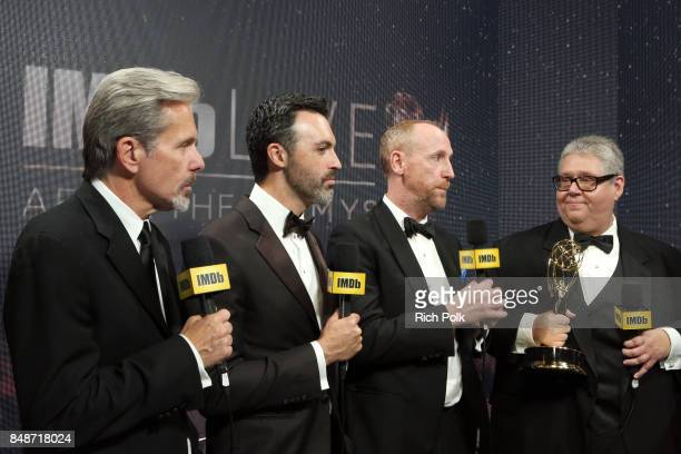 Actors Gary Cole Reid Scott Matt Walsh and producer David Mandelwinners of the award for Outstanding Comedy Series for 'Veep' attend IMDb LIVE After...