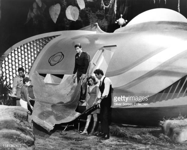 Actors Gary Conway as Captain Steve Burton and Deanna Lund as Valerie Scott in the television science fiction series 'Land of the Giants' circa 1970...