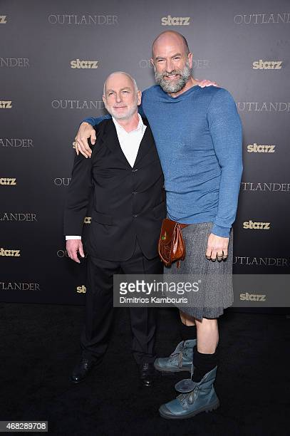 Actors Gary Lewis and Graham McTavish attend the Outlander midseason New York premiere at Ziegfeld Theater on April 1 2015 in New York City