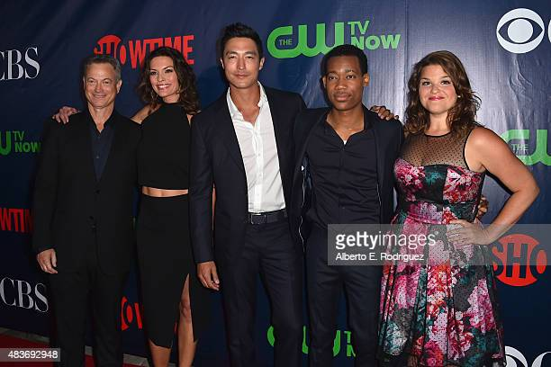 Actors Gary Sinise Alana De La Garza Daniel Henney Tyler James Williams and Annie Funke attend CBS' 2015 Summer TCA party at the Pacific Design...