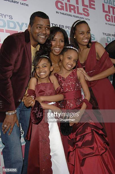 Actors Gary Sturgis China Anne McClain Tasha Smith Lauryn Alisa McClain and Sierra Aylina McClain attend the premiere of Lionsgate's 'Daddy's Little...