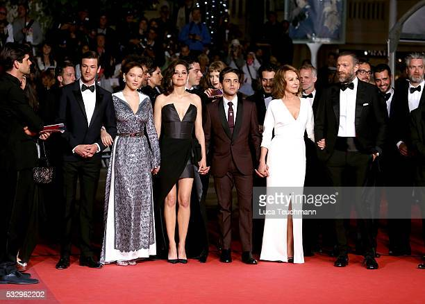 Actors Gaspard Ulliel Lea Seydoux Marion Cotillard Xavier Dolan Nathalie Baye and Vincent Cassel attend the It's Only The End Of The World Premiere...