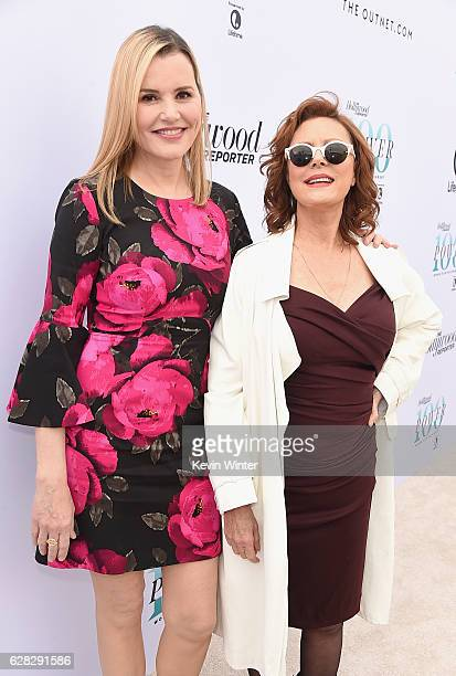 Actors Geena Davis and Susan Sarandon attend The Hollywood Reporter's Annual Women in Entertainment Breakfast in Los Angeles at Milk Studios on...