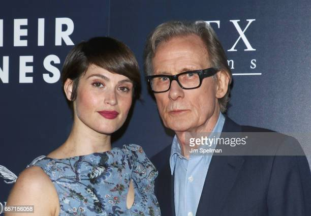 Actors Gemma Arterton and Bill Nighy attend the premiere of 'Their Finest' hosted by STXfilms and EuropaCorp with The Cinema Society at SVA Theatre 2...