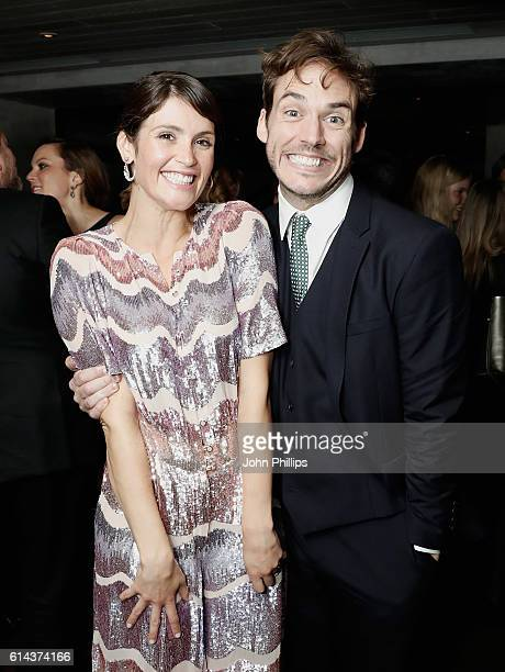 Actors Gemma Arterton and Sam Claflin attend 'Their Finest' after party during the 60th BFI London Film Festival at on October 13 2016 in London...