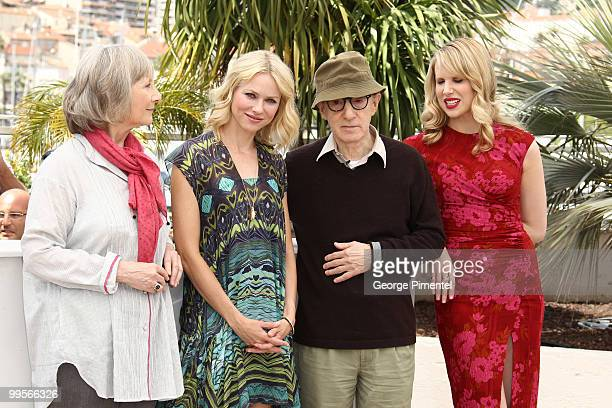Actors Gemma Jones Naomi Watts writer/director Woody Allen and Lucy Punch attend the 'You Will Meet A Tall Dark Stranger' Photocall held at the...