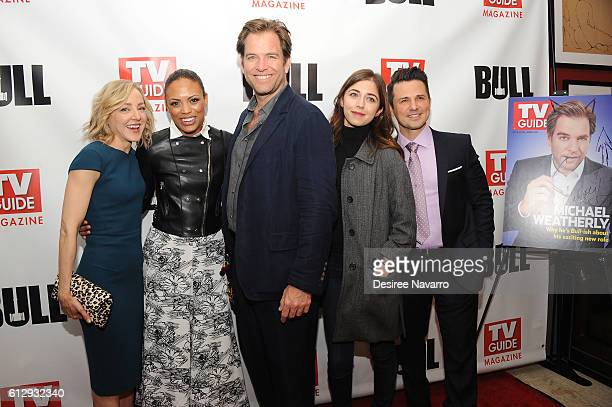 Actors Geneva Carr Jaime Lee Kirchner Michael Weatherly Annabelle Attanasio and Freddie Rodriguez attend TV Guide Magazine Celebrates CBS' Michael...