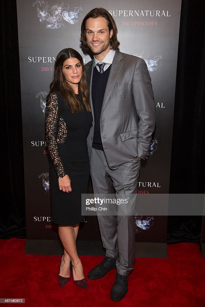 Actors Genevieve Cortes and Jared Padalecki attend the 'Supernatural' 200th episode celebration at the Fairmont Pacific Rim Hotel on October 18, 2014 in Vancouver, Canada.