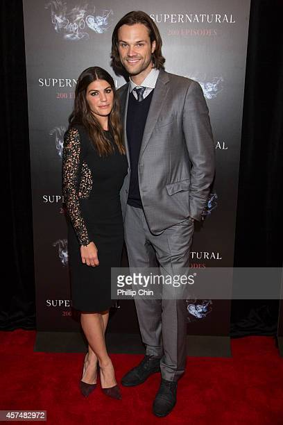 Actors Genevieve Cortes and Jared Padalecki attend the 'Supernatural' 200th episode celebration at the Fairmont Pacific Rim Hotel on October 18 2014...