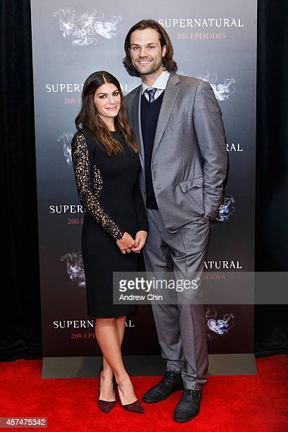 Actors Genevieve Padalecki and Jared Padalecki celebrates the 200th episode of 'Supernatural' at Fairmont Pacific Rim Hotel on October 18 2014 in...