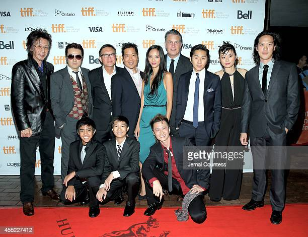 Actors Geoff Lee and Shing Ka director Andrew Lau director Andrew Loo actress Shuya Chang Chief Executive Officer of IM Global and producer Stuart...