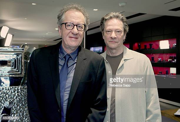 Actors Geoffrey Rush and Chris Cooper attend Variety Awards Studio Day 1 at the Leica Gallery and Store on November 20 2013 in West Hollywood...
