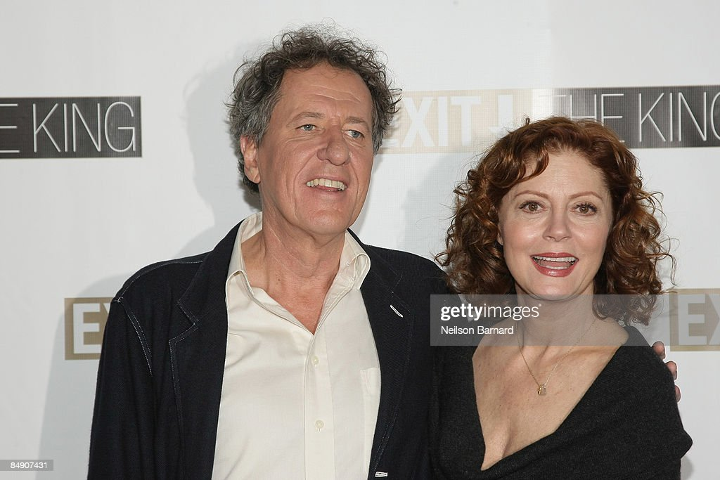 Exit the king on broadway meet and greet10 pictures actors geoffrey rush and susan sarandon attend a meet and greet for exit m4hsunfo