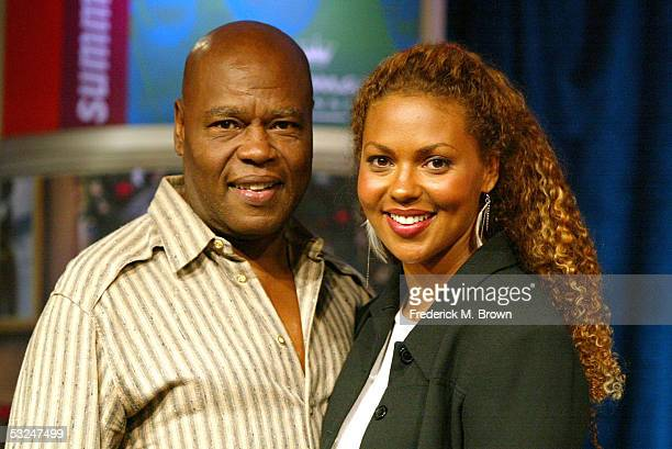 Actors Georg Stanford Brow and daughter Kathryne Dora Brown attend the panel discussion during the Hallmark Channel presentation at the 2005...