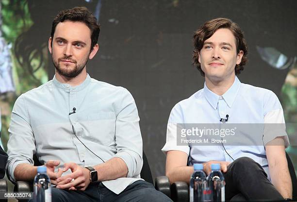 Actors George Blagden and Alexander Vlahos speak onstage during the 'Versailles' panel discussion at the Ovation portion of the 2016 Television...