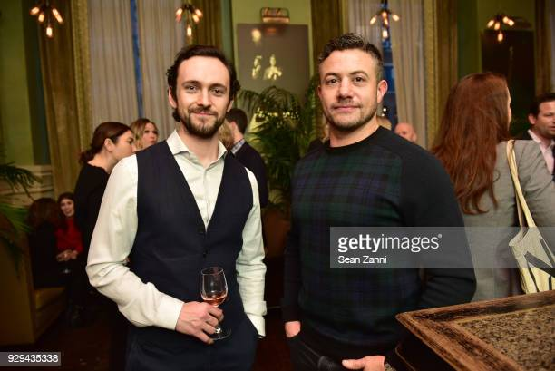 Actors George Blagden and Warren Brown attend as Ovation TV hosts 20182019 Programming Preview at Soho Grand Hotel on March 8 2018 in New York City